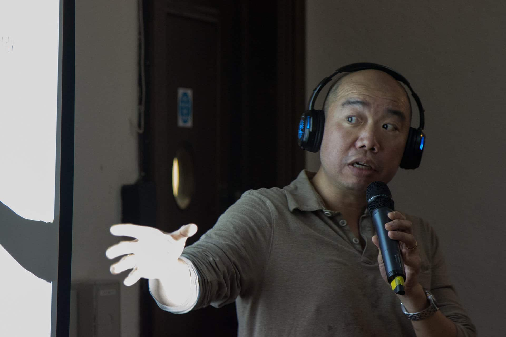 Cambridge's Dr. Giles Yeo give his presentation