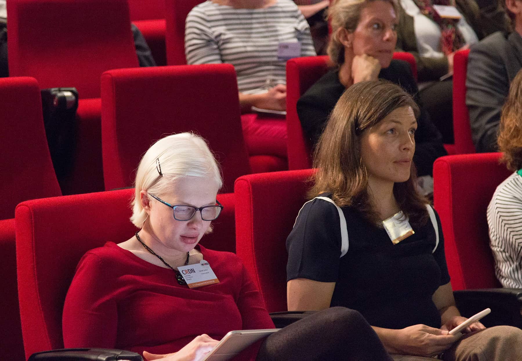 CRDN Trustees Sarah and Gemma at RAREsummit19
