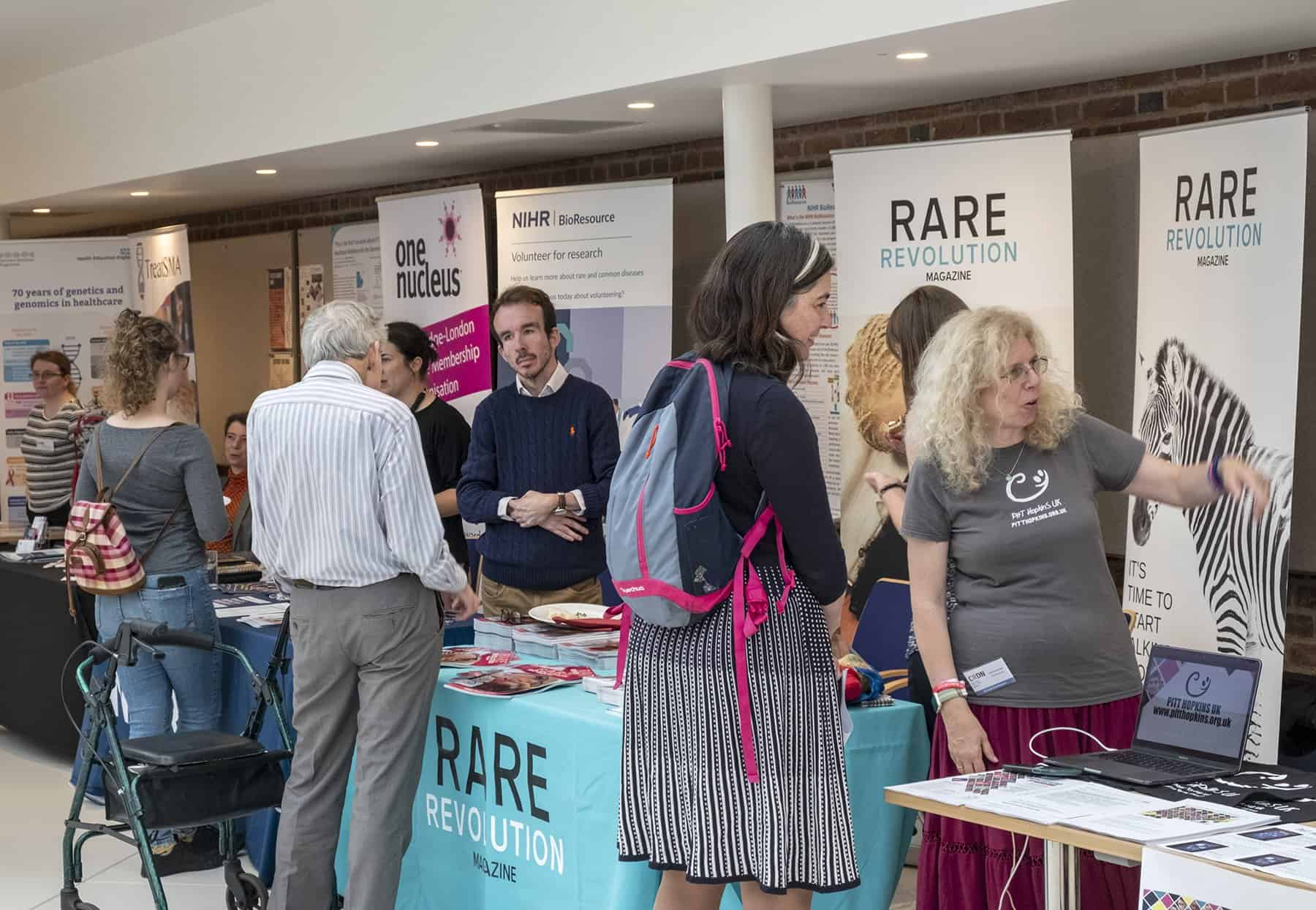Some of the exhibition stands at RAREsummit19 (Image credit: Healthcare & Biotech Photography)