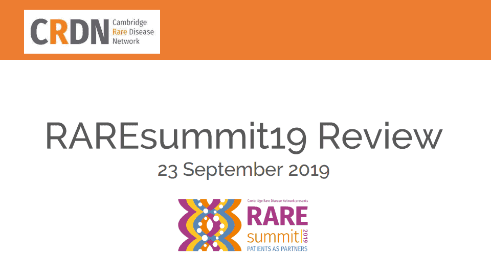 RAREsummit19 review report front cover with raresummit logo