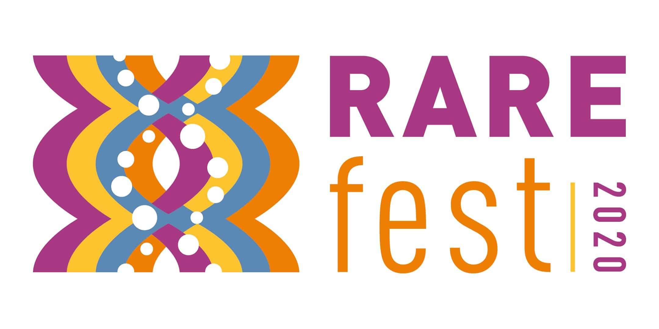 RAREfest20 science, technology and arts festival logo Cambridge Rare Disease Network