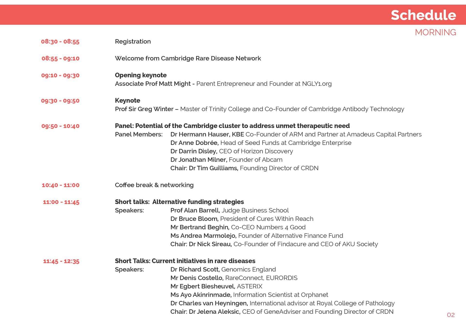Cambridge Rare Disease Network - 2015 Summit 1