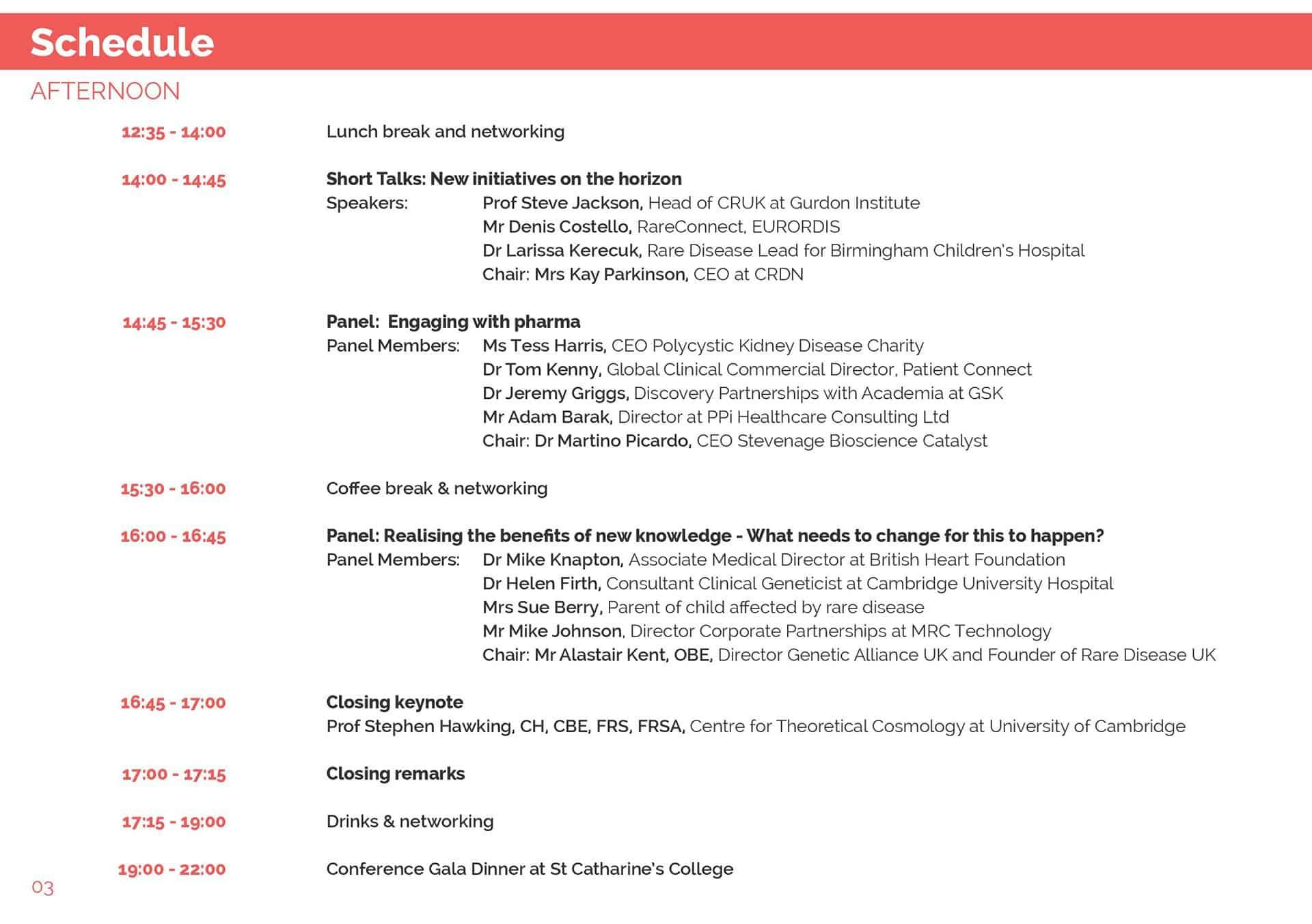 Cambridge Rare Disease Network - 2015 Summit 2
