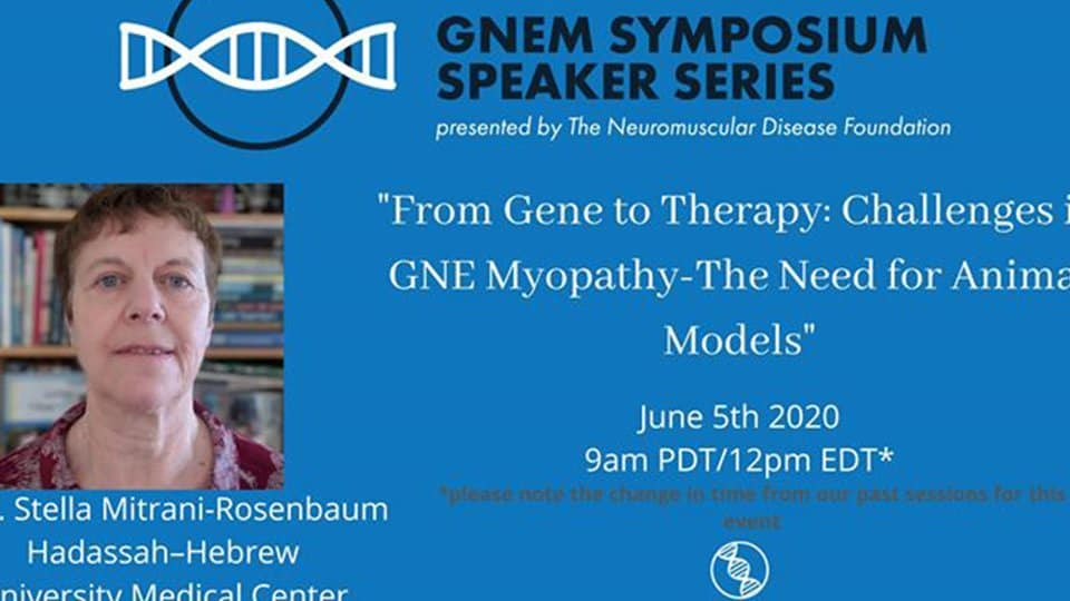 NDF GNEM Symposium Speaker Series with Prof. Mitrani-Rose