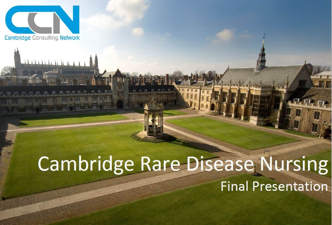 Cambridge Rare Disease Nursing Report Front Cover
