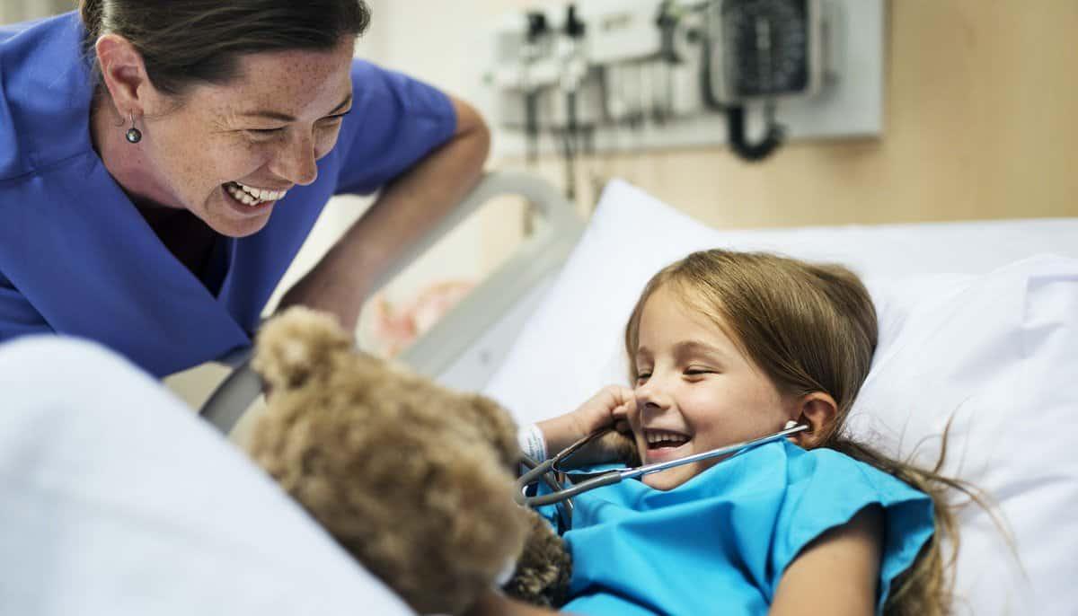Nurse and child patient photo